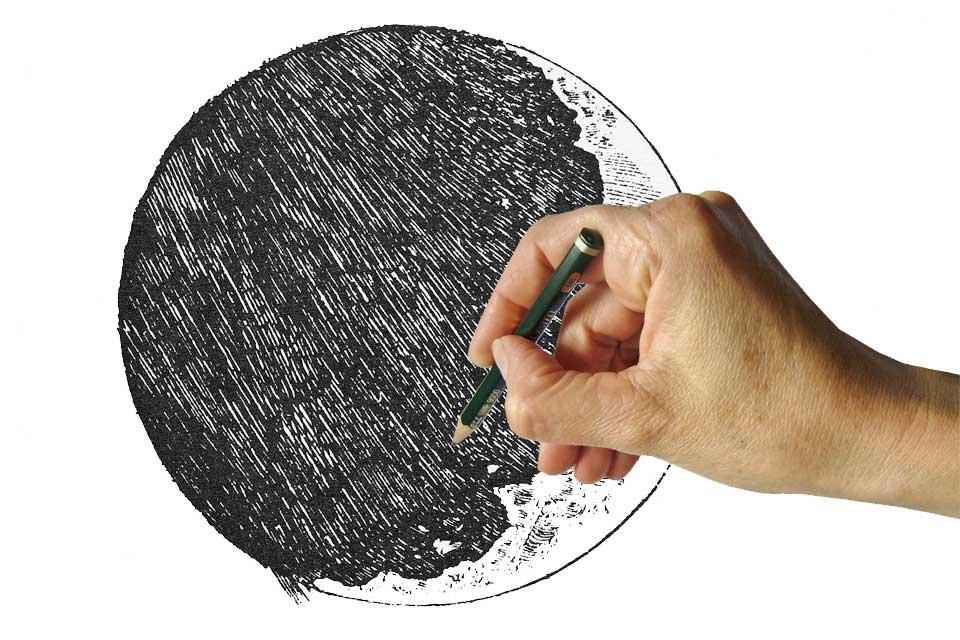 Mondzeichnung